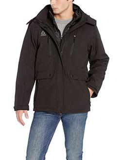 Reebok Men's Softshell Active Jacket, Systems with Chest Zip