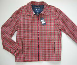 Polo Golf Ralph Lauren Men's Summer Red Tartan Full Zip Jack
