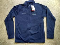 Marmot Men's Sz M navy blue Stretch Fleece full-zip jacket.