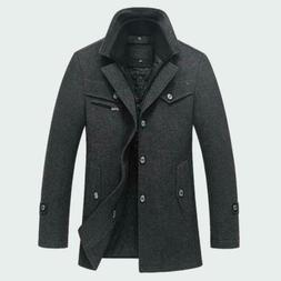 Men's Thick Coats Slim Fit Jackets Casual Warm Outerwear Jac