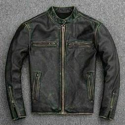 Men's Vintage Faded Motorcycle Retro Biker Black Distressed