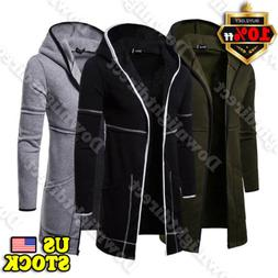 Men's Winter Overcoat Trench Outwear Long Sleeve Cardigan Ja
