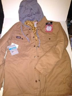 DICKIES MEN'S WORK JACKET RELAXED FIT CANVAS OVERSHIRT QUILT