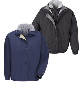 RED KAP Men's Work Uniform JACKET & VEST  Navy/Black JN30