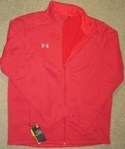 Men's XL Under Armour Storm Red Full Zip Fleece Jacket 12970