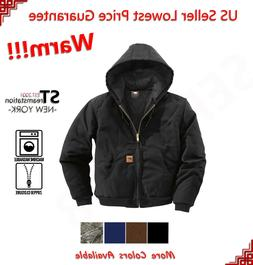 Mens Winter Thermal Duck Jacket Coat Sandstone Jacket Canvas