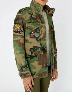 Polo Ralph Lauren Men M-65 Military US Army Camo Soldier Off