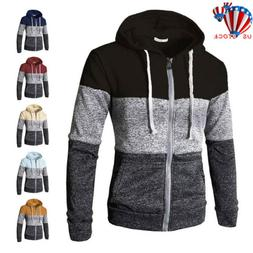 Men Warm Hoodie Hooded Sweatshirt Zip Coat Jacket Outwear Ju
