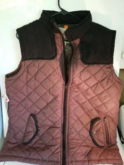 Mens REALTREE Brown Quilted Puffer VEST SZ XL clothes huntin