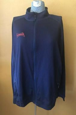 Men's Levelwear Budweiser Navy Full Zip Lightweight Polyes