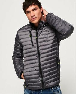 Mens Superdry Core Down Jacket Grey