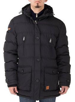 Luciano Natazzi Mens Down Jacket Thermal Padded Classic Oxfo
