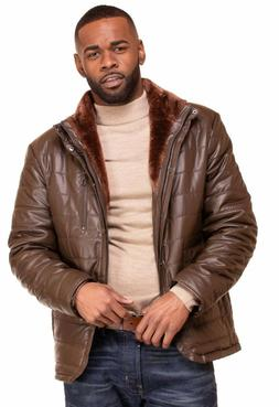 Mens Faux Leather Jacket Genuine leather touch