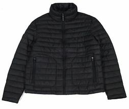 Superdry Mens Fuji Jacket Black Size XL Stand-Collar Double