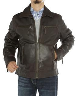 Luciano Natazzi Mens Full Grain Cow Leather Jacket