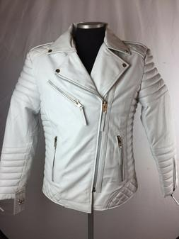 MENS GENUINE LAMBSKIN LEATHER BIKER JACKET MOTORCYCLE STYLE