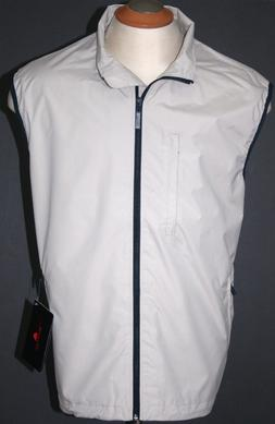 THE WEATHER COMPANY MENS GOLF VEST WATERPROOF JACKET SAND KH