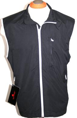 THE WEATHER COMPANY MENS GOLF VEST WATERPROOF RAIN JACKET BL