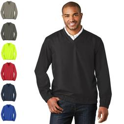 Mens Golf Wind Shirt Zephyr V-Neck Pullover Windbreaker Golf