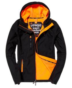 mens hooded sd windtrekker jacket black