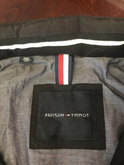Tommy Hilfiger Mens Jacket Classic Hooded Full-zip Flag BLAC