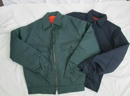 Mens Jacket IKE lined Work Blue Green Gray Small Medium Larg