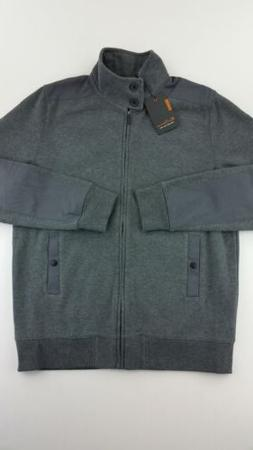 Ben Sherman Mens Jacket XL Full Zip Up Button Pockets Gray B