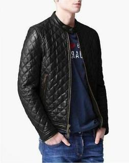 Mens Leather Jacket Men Motorcycle Real Lambskin Biker Coat