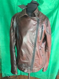 Mens Rogue Leather Jacket NWT Brandy Color