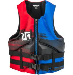 Mens NEOPRENE Life Jacket Fly Racing Safety Vest Zip w Buckl