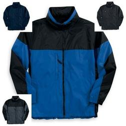 Mens WearGuard Nylon Packable Parka Jacket w/Hood Folds into