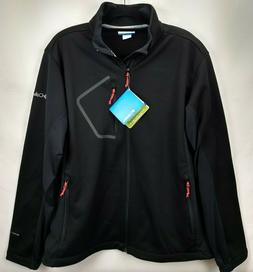 Columbia Mens Omni Shield Fleece Jacket Large Black Full Zip