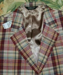 Mens JOS A BANKS Plaid Cotton 3 Button Executive Blazer Jack