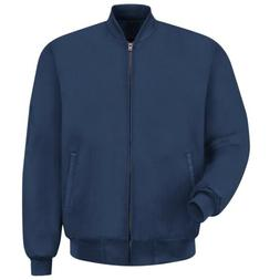 Red Kap Mens Quilted Lined Full-Zip Work Jacket, Heavy, Navy