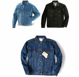 Mens Wrangler Rugged Wear Denim Jacket - Inside Pockets - Si