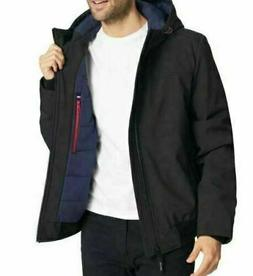 Tommy Hilfiger Mens Softshell Jacket Bomber With Hood Black