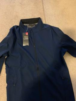 Under Armour Mens Storm Launch Jacket Navy Blue Size Medium