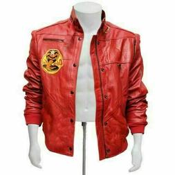 The Karate Kid Johnny Lawrence Cobra Kai Red Bomber Leather