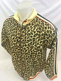 MENS VICTORIOUS TRACK JACKET Urban ZIP UP LEOPARD ANIMAL PRI