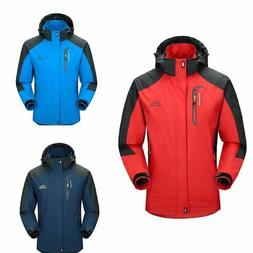 Mens Waterproof Hiking Jacket Coat Winter Ski Outdoor Sport