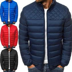 Mens Winter Jacket Puffer Bubble Down Coat Bomber Quilted Pa