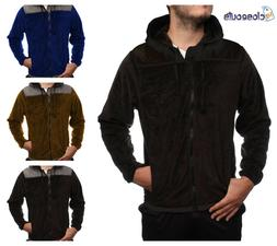 Mens Winter Warm Casual Lightweight Hooded Fur Lined Zipper