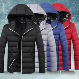 Mens Winter Warm Duck Down Jacket Ski Jacket Snow Hooded Cas