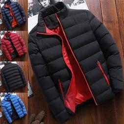 Mens Winter Warm Duck Down Jacket Ski Jacket Thick Hooded Pu