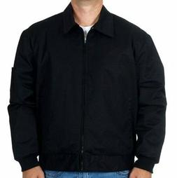 Mens Work Jacket Mechanic Style Zip Jacket Black JH Work Bra
