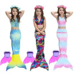 Mermaid Tail Mono fin Swimmable Tails Swimwear for Girls Kid