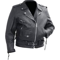 Motorcycle Jacket Men's Cowhide Leather Classic Rocky Mounta