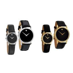 Movado Museum 2100002 2100004 2100005 2100006 Black Leather