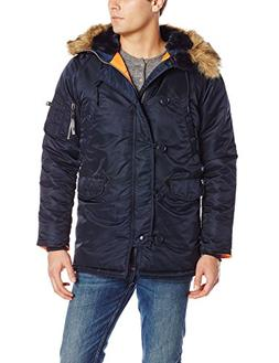 Alpha Industries Men's N-3B Slim-Fit Parka Jacket with Remov