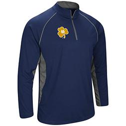 Colosseum Men's NCAA-Rival-1/4 Zip Pullover-Notre Dame Fight